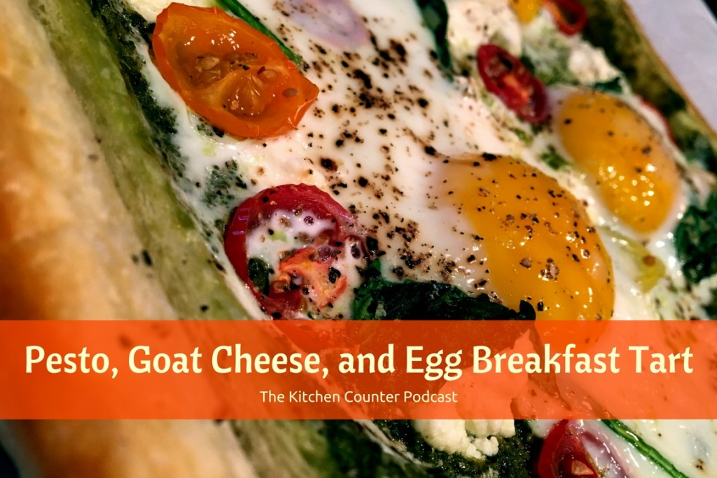 Pest, Goat Cheese, and Egg Breakfast Tart